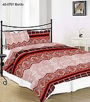 Евро размер постельного белья 40-0791 Bordo Red