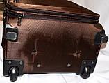 Чемодан на 2х колесах Средний 38*60*27 (черный; синий; коричневый; фуксия), фото 10