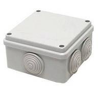 Коробка распределительная 100*100*70 квадрат / LMA204 с резиновыми заглушками