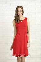 Молодежное летнее платье красного цвета. Модель 328 Mirabelle.