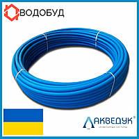 Труба полиэтиленовая Акведук синяя питьевая ПЭ80 D40*2,0 PN6