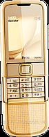 Китайский Nokia 8800 Gold, 1 SIM, камера 2 Мп, встроенная память 1 Гб, FM-радио. Металлический корпус
