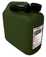 Канистра Rexxon 10л пластик оливковый цвет