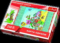 Пазл Trefl Карта Европы 200 элементов (TFL-15530)