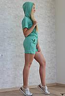 Женский спортивный костюмчик двоечка с капюшоном
