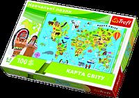 Пазл Trefl Карта мира 100 элементов (TFL-15531)