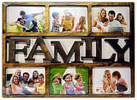 Фоторамка коллаж бронза на 6 фото Family