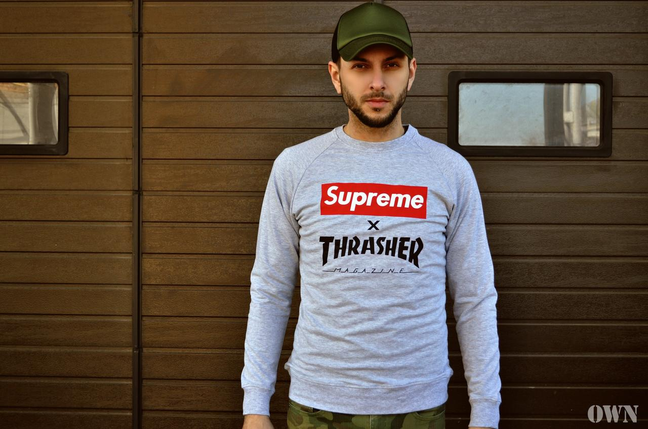 Свитшот Supreme & Thrasher (Суприм и Трешер)