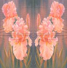 Рідкісні декупажні серветки Рожеві іриси 6955