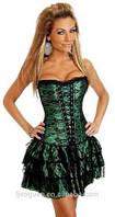 Корсет женский утягивающий моделирующий, корсет на грудь удлиненный. Корсет с юбкой. Разные цвета, размеры., фото 1