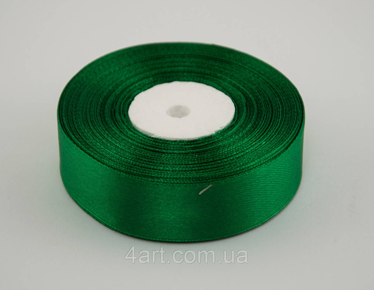 Стрічка атлас 0.9 см, 33 м, № 19 Зелена
