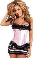 Корсет женский утягивающий моделирующий, корсет на грудь удлиненный. Корсет с юбкой. Разные цвета, размеры.