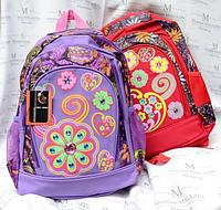 Рюкзак школьный с цветами KWC BAG для девочки