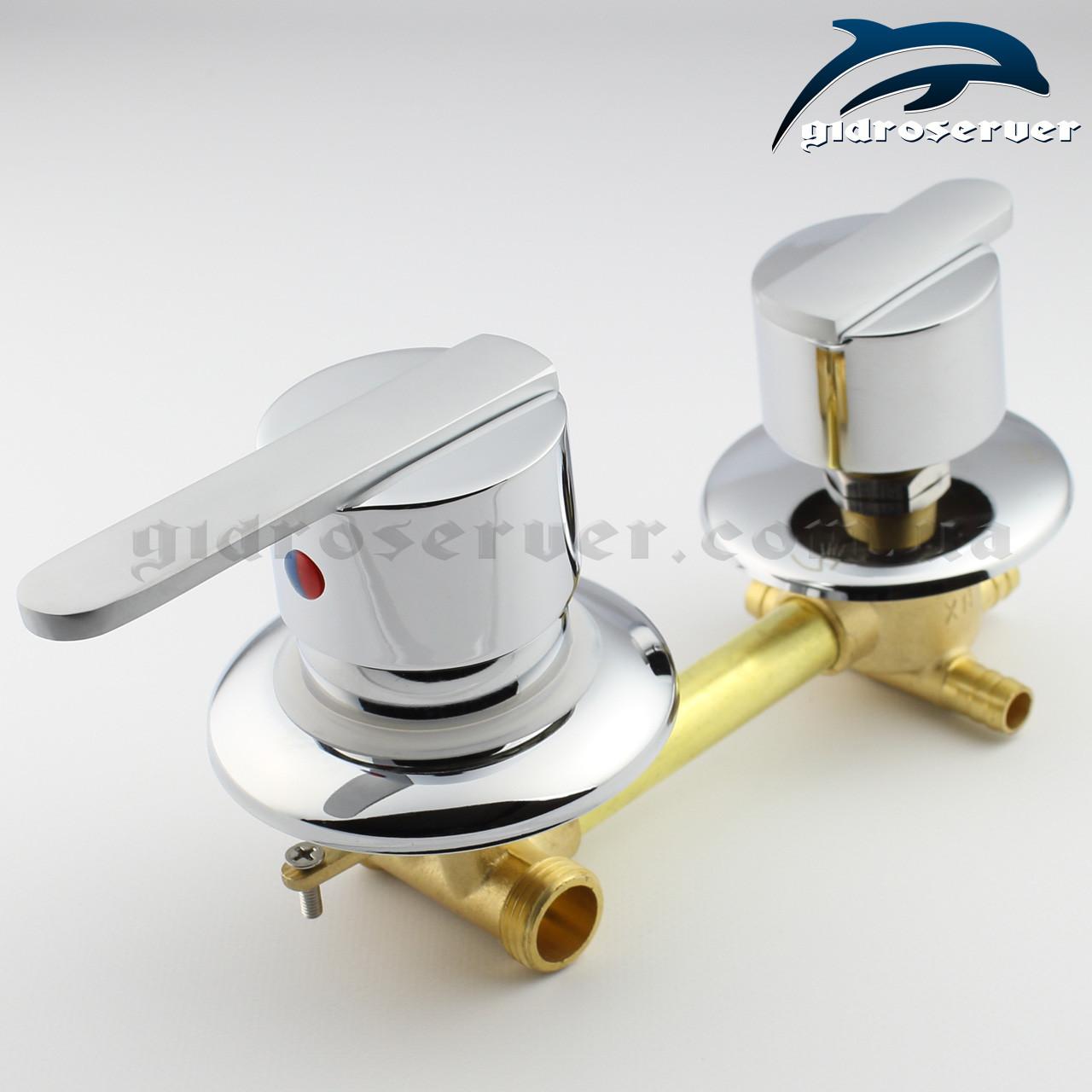 Смеситель для душевой кабины, гидромассажного бокса S 3 - 120 мм.