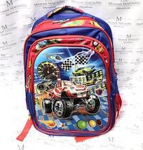 Рюкзак шкільний з машинками HF-1601 для хлопчика