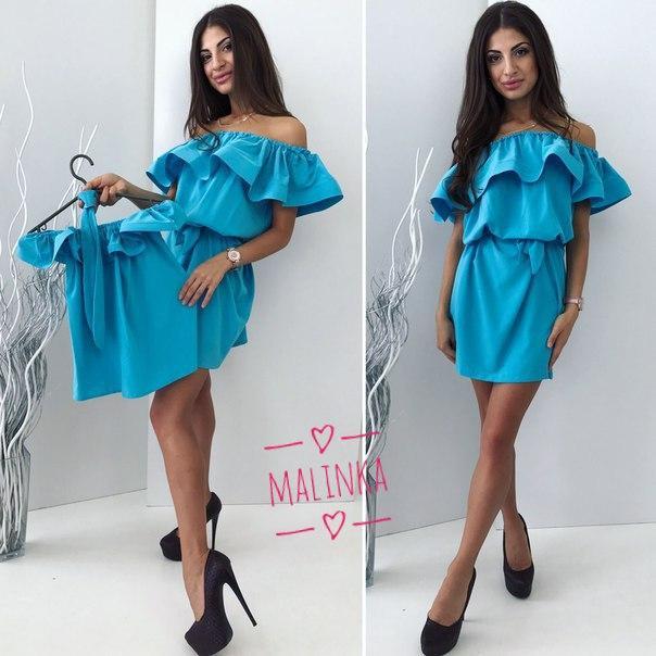 3e66e2e991f7d72 Привлекательное летнее платье мама дочка (софт, открытые плечи, волан,