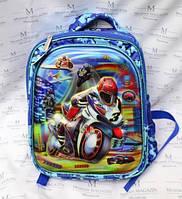 Рюкзак школьный с мотоциклом HF-1601 для мальчика