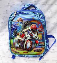 Рюкзак шкільний з мотоциклом HF-1601 для хлопчика
