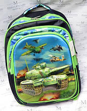 Рюкзак шкільний Танки TB-1613 для хлопчика