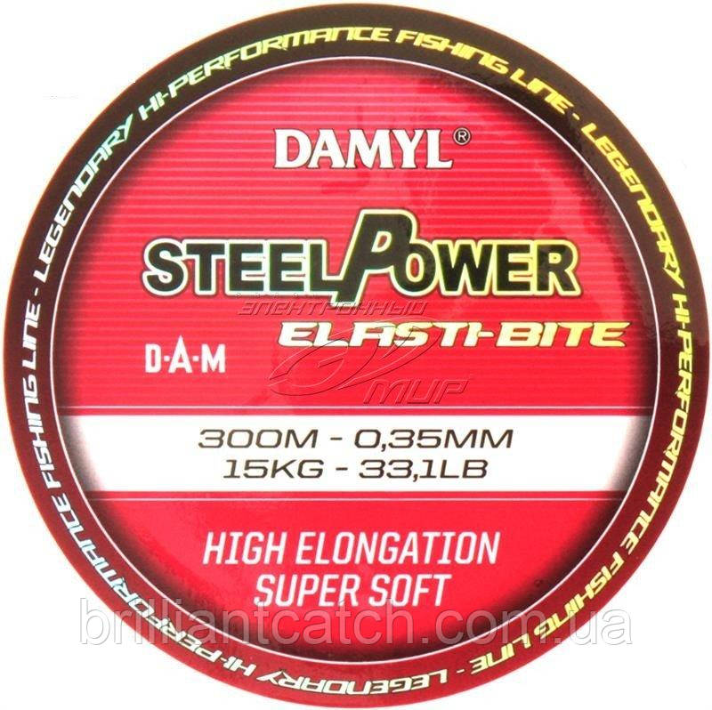 Леска DAM DAMYL Steelpower Elasti-Bite Mono 0,35мм 300м 15кг (hi-viz pink)