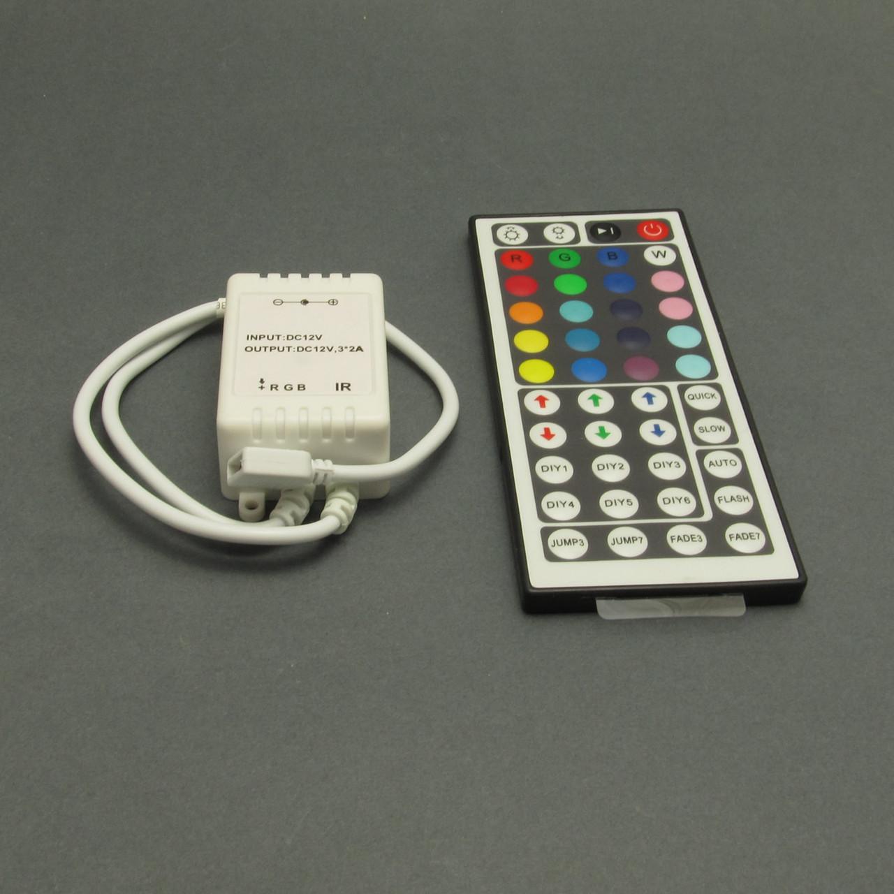 Контроллер светодиодной ленты RGB 6A, пульт на 44 кнопки, инфракрасный
