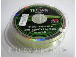 Леска DAM Tectan Superior 100м.х5  0,10мм 1,02кг (бледно-салатовая)