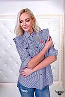 Женская рубашка со значками