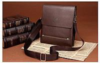 Мужская Кожаная сумка FEIDIKABOLO темно-коричневая
