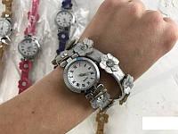 """Часы женские многослойные браслет """"Ромашки"""""""