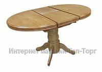 Стол круглый обеденный раскладной А15 разные цвета, деревянный
