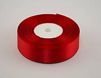 Лента атлас 0.9 см, 33 м, № 26 красная
