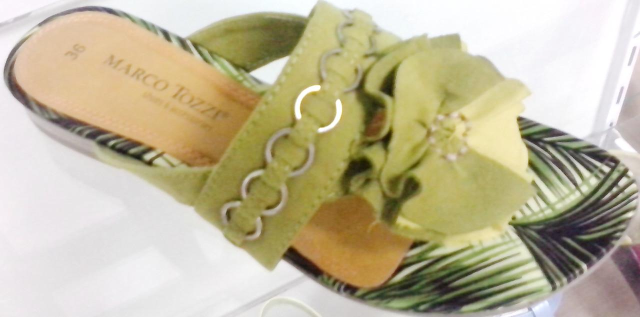 Шлепанцы женские  Marco tozzi, текстиль