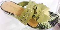 Шлепанцы женские  Marco tozzi, текстиль, фото 1