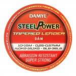 Лидер конический DAM DAMYL Steelpower Tapered Leader  0.25-0.57мм  10x15м 4,0-16,1кг (orange)