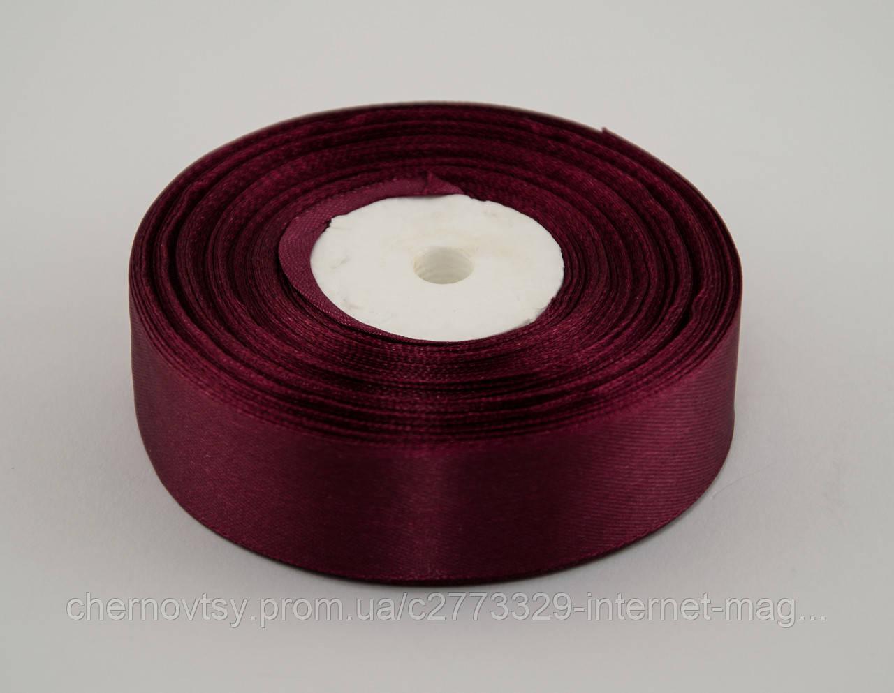 Лента атлас 0.9 см, 33 м, № 83 Темно-бордовая