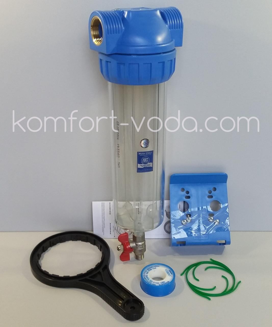 """Фильтр с промывкой Aquafilter FHPR1-3V_R, 1"""""""