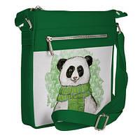 Сумка стильная Pocket цвет зеленый Панда унисекс