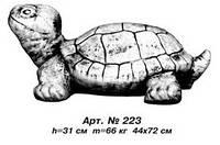 Фигуры живатных «Черепаха» большая 44х72 см, Н=31 см