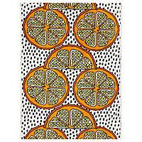 ORANGELILJA Ткань, оранжевый, белый/черный