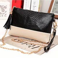 Женская кожаная сумочка IMIDO черная