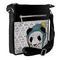 Сумка стильная Pocket цвет черный Панда в шапке унисекс