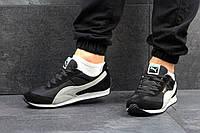 Мужские кроссовки PUMA SPEEDER, замш + плащевка, черно белый / бег кроссовки мужские ПУМА СПИДЕР