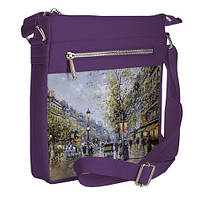 Сумка стильная Pocket цвет фиолетовый Парижские этюды унисекс