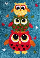 Ковер детский бирюзовый Совы Owl