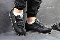 Мужские кроссовки PUMA SPEEDER, замш + плащевка, черные / беговые кроссовки мужские ПУМА СПИДЕР