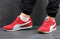 Мужские кроссовки PUMA SPEEDER, замш + плащевка, красные / беговые кроссовки мужские ПУМА СПИДЕР
