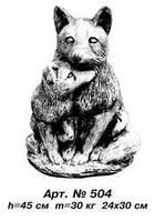 Фигуры животных «Лиса с лисенком» 24х30 см, Н=45 см