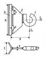 Крюк для опор без отверстий GHSO14