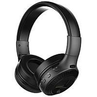 Наушники bluetooth ZEALOT B19 черные FM музыкальные оголовье мягкие амбушюры смартфона android с LED дисплеем