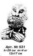 Фигуры животных «Сова» 12х17 см, Н=29 см